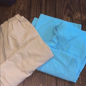 2 pair of scrub pants